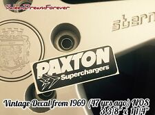 VINTAGE PAXTON SUPERCHARGER DECAL STICKER GT350 SHELBY MUSTANG FORD COBRA VETTE