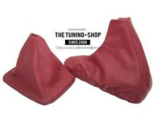 FOR BMW Z3 1995-02 SHIFT & E BRAKE BOOT TANIN RED ITALIAN LEATHER