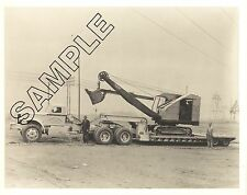 1940s STERLING Tractor & Lowboy w/ BUCYRUS-ERIE 18-B 8x10 PHOTO, ALCOA WORKS, TN