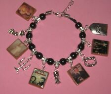 """ DARK SHADOWS-19​99 REVIVAL""-SLIDER CHARM BRACELET - HAND MADE-TIBETAN SILVER"