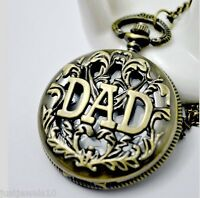 Dad gift Mens Fathers day for him Grandad Pocket Watch Son Baba Papa daddy Abu
