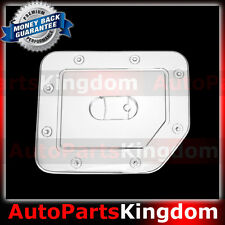 Triple Chrome Kit Plated Gas Tank Fuel Door Cover truck for 05-15 Nissan Titan