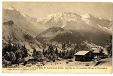 CPA 74 Haute-Savoie St-Nicolas de Véroce Aiguille de Bionnassay Miage Bérangère