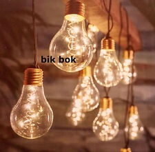10 Retro Festoon Lightbulb String Lights  Outdoor / Indoor Use