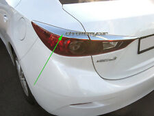 Chrome Tail Rear Light Lamp Trim Garnish Surround for Mazda 3 BM 2013-16 Sedan