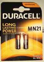 2x Batterie A23 MN21 Duracell Alkaline 12V - 23A V23GA LR50 - MHD_2020 - Blister