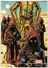 Star Wars Galaxy Series 2 #228 Jawas & C-3PO Card (C91)