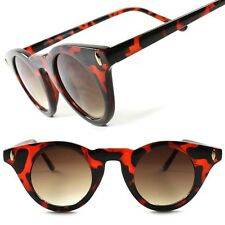 Tortoise Classic Vintage Retro Fashion Womens Stylish Cat Eye Round Sunglasses