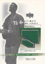 2003-04 Upper Deck Ultimate Bill Russell GU Jersey Relic #d /200 1/1 CELTICS SP