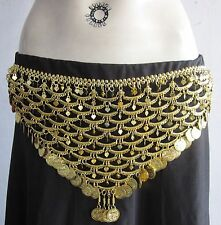 Womens Gold Coin Metal Belt| Boho hippie Gypsy Tribal Bohemian Kuchi Belly dance