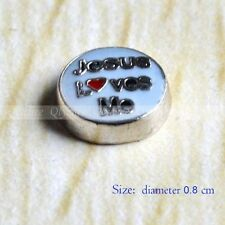Floating Locket Charms Jesus Lvoe Me for Glass Living Memory Lockets New 1pc