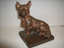 Cast Pot Metal Bronz Like Finish Scotty Clock Topper 5 1/2""
