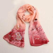 Mode Damen Schals Chiffon Blumen weiches Ansatz Schal Schal Schal Stola Wraps