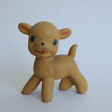 REMPEL Rare Mid Century Rubber Fleecy The Lamb Squeeze Toy Akron Ohio