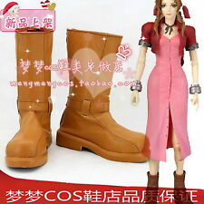 Final Fantasy VII FF7 Aerith Gainsborough cosplay shoes boots Custom-Made 2370