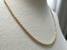 """14k Yellow Gold Chain Necklace Sign BBB 13.8g Rope Twist 20.5"""" Solid 2.5mm NICE!"""