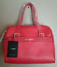 JACK FRENCH LONDON NWT PADDINGTON CORAL GENUINE LEATHER CONVERTIBLE SATCHEL