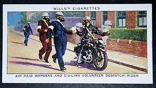 Civilian Volunteer Despatch Rider     1930's Vintage Card VGC