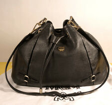 AUTHENTIC MCM Visetos Leather Draw Shoulder + Dust Bag