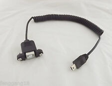 10x USB 2.0 B Female Panel Mount To Mini USB 5 Pin Male Coiled Spiral Wire Cable