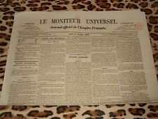 LE MONITEUR UNIVERSEL, journal officiel de l'empire français, n° 284, 11/10/1858