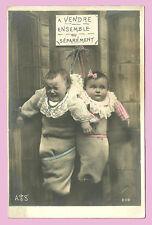 CPA- Bébé à vendre ensemble ou séparement