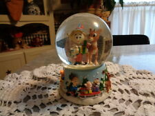 Enesco Musical Snow Globe -  Rudolph The Red Nosed Reindeer - HERMIE / RUDOLPH