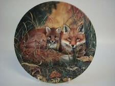 ROYAL DOULTON BRADEX FOXES IN THE UNDERGROWTH FIRST STEPS TOGETHER PLATE