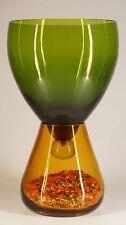 Grün, bernsteinfarbene, Glas, Schale, Murano, Designer, Boden, Vase, Handarbeit