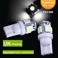 2x T10 5050 W5W 168 194 5 SMD LED White Side Wedge Tail Light Bulb Lamps 12V