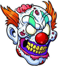 "#173 4"" Evil Psycho Zombie Clown Knife Decal Motorcycle Laptop Skateboard Car"