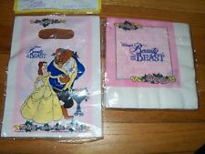 2pc Lot Beach Pink Beauty & the Beast Birthday Party Goods Multi-color NOS