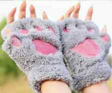Ladies Winter Fingerless Gloves,Fluffy Bear Cat Plush Paw Claw( ONE SIZE) NEW