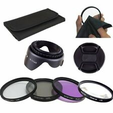 62mm UV CPL FLD CLOSE UP Lens Filter Hood Kit For Tamron 18-250 70-300 18-270