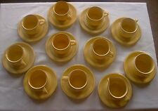 Mikasa by Bob Van Allen Pastels- Lemon Blush-Saucers and Cups Set- Made in Japan