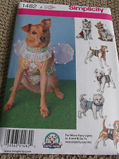 SEWING PATTERN S1482 DOG PET CLOTHES COSTUMES 7 DESIGNS SIZE SMALL TO LARGE