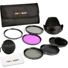 77mm ND2 ND4 ND8 Graufilter Filterset UV CPL FLD Lens Filter Set Hood Cap Cloth