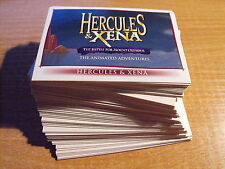 HERCULES AND XENA ANIMATED COMPLETE BASIC SET OF CARDS