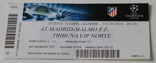 Ticket for collectors CL Atletico Madrid Malmo FF 2014 Spain Sweden