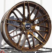 18X8.5 STR 511 WHEELS 5X114.3 +35MM TITANIUM RIMS FITS CRZ RX8 ECLIPSE TL TSX