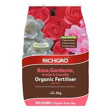 Richgro 5kg Rose, Gardenia, Azalea And Camellia Mega Booster Organic Fertiliser