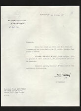 Jean-Charles Sicurani SIGNED 1967 letter by Governor of French Polynesia * Mali