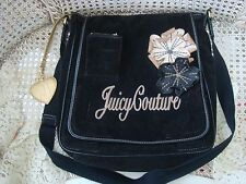 STYLISH JUICY COUTURE MESSENGER STYLE BAG WITH FLOWERS