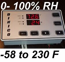 Humidity & Temperature Controller fr Hydroponic Grow Closet Hydro Cabinet Room