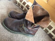 Dr. Martens brown leather Biker Style boots size UK 8
