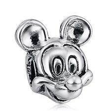 Mouse Cartoon S925 silver charm bead for European charms bracelet bangle
