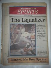 VINTAGE DAILY NEWS FRIDAY, OCTOBER 10,1986. THE EQUALIZER METS/ASTROS PLAYOFFS