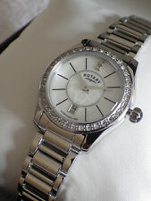 Rotary Donna lb03895/02 BIANCO MADREPERLA DIAMANTE Dial Watch-Nuovo
