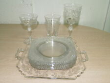 vintage crystal glassware set (plates and glasses) 1920's-1930's
