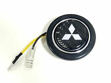 "2"" CARBON FIBER DIAMOND STEERING WHEEL HORN BUTTON FOR MITSUBISHI"